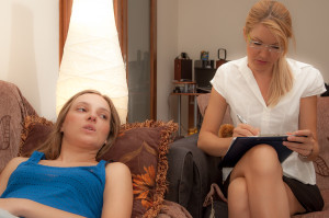 Psycotherapist and teenager patient